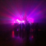 Dance lighting and lots of fog