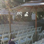 Ceremony system tucked away to the side