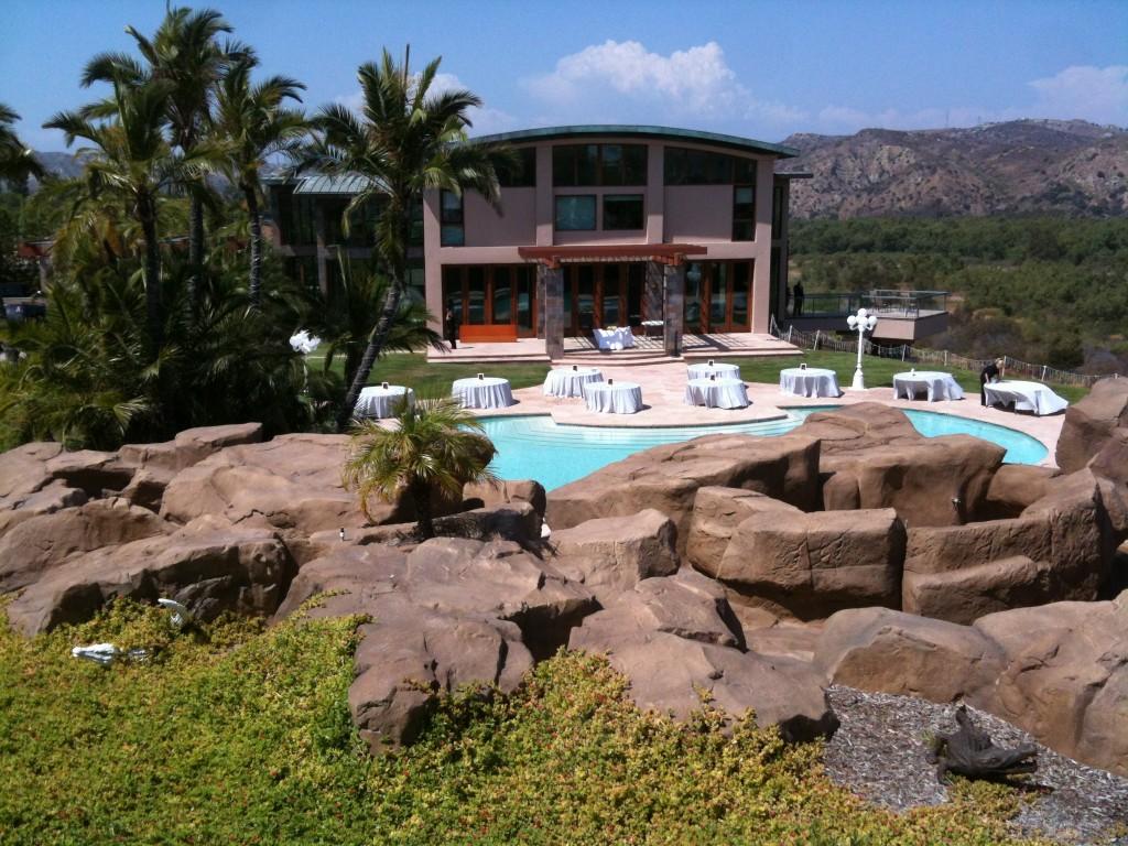 Reception around pool