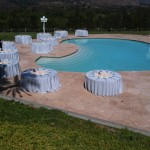 Reception around pool