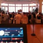Guests enjoying slideshow